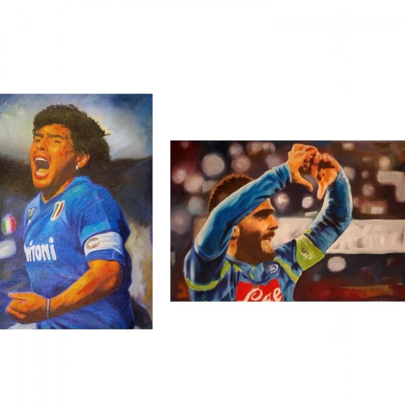 """Forza Napoli!"" - Diptych by Antonello Arena"