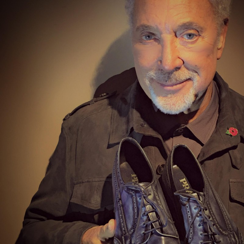 Sir Tom Jones Autographed Shoes from His Personal Collection