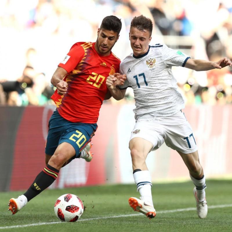 Asensio's Match Shirt, Spain-Russia 2018