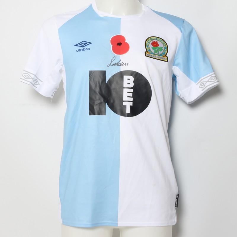 Joe Rothwell's Match-Worn Blackburn Rovers Signed Poppy Home Shirt