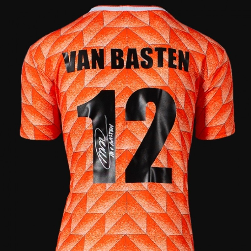 Marco Van Basten Back Signed Retro Netherlands Home Shirt