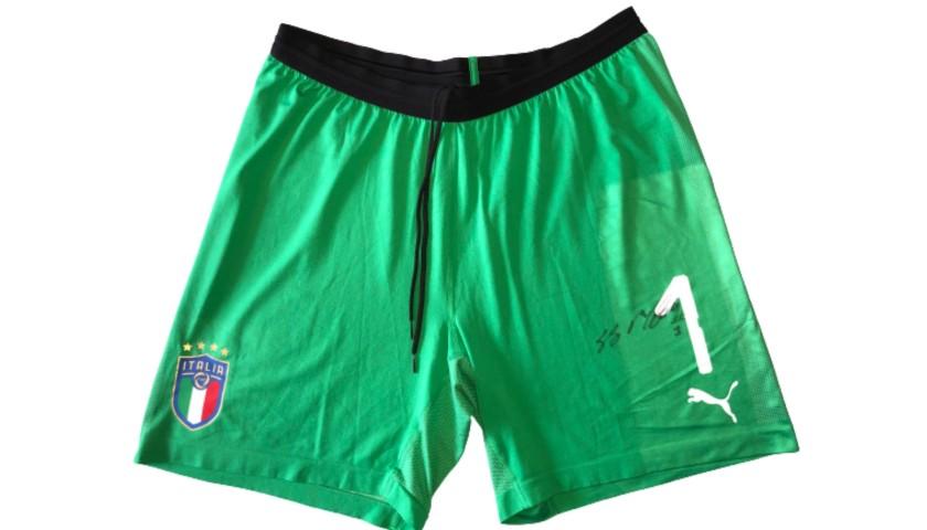 Buffon's Match Shorts, Italy-Argentina 2018