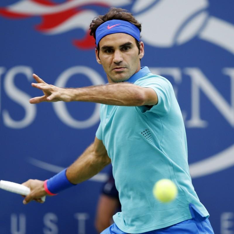 Wilson US Open Tennis Ball Signed by Roger Federer