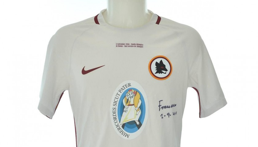 Official AS Roma 16/17 shirt, signed by Francesco Pope