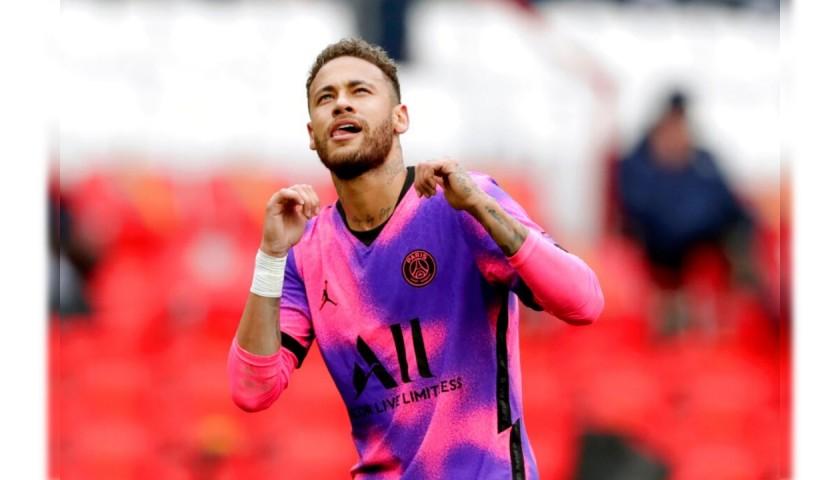 Neymar's PSG Signed Match Shirt, 2020/21
