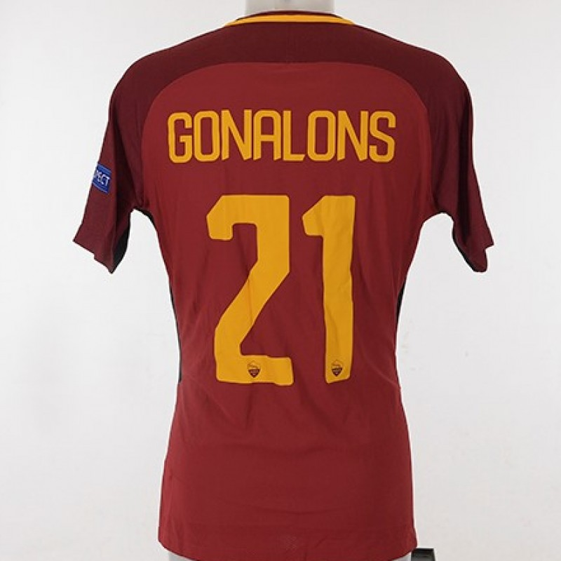 Gonalons' Match-Issue Roma-Shakhtar CL 2017/18 Shirt