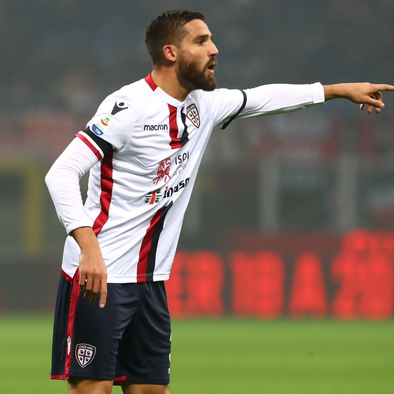 Pavoletti's Official Cagliari Kit, 2018/19 - Signed