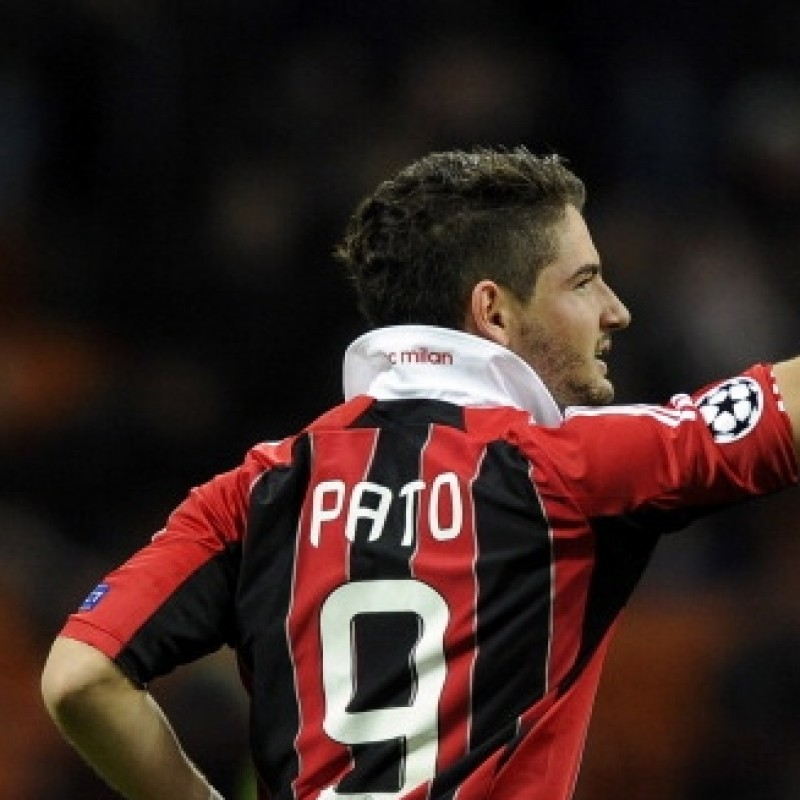 Pato Milan match worn shirt,  Milan-Malaga Champions League 2012/2013