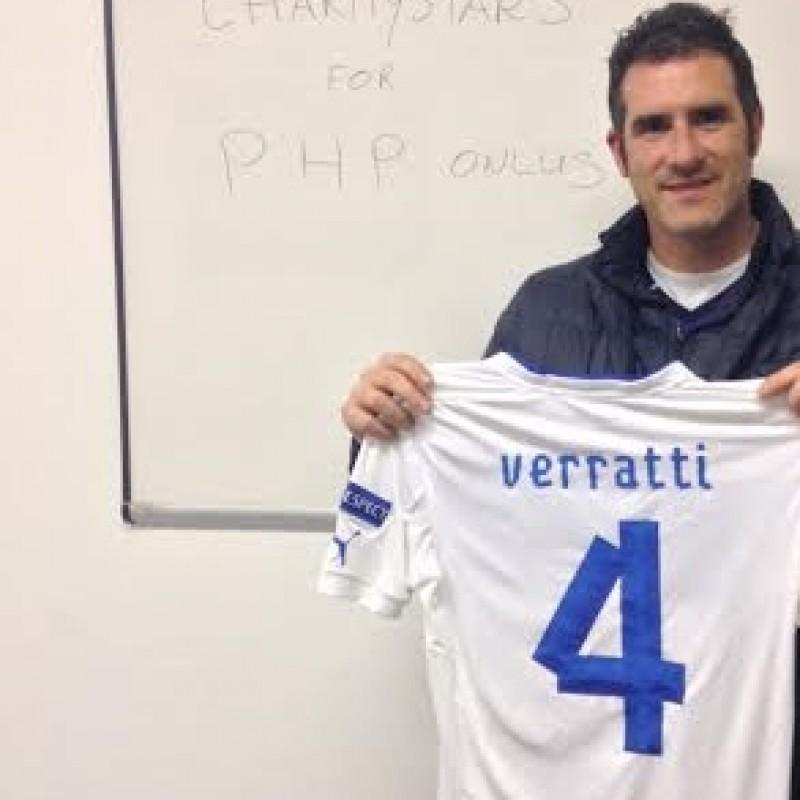 Verratti's Italy match issued shirt, European Championship U21 2013 - signed