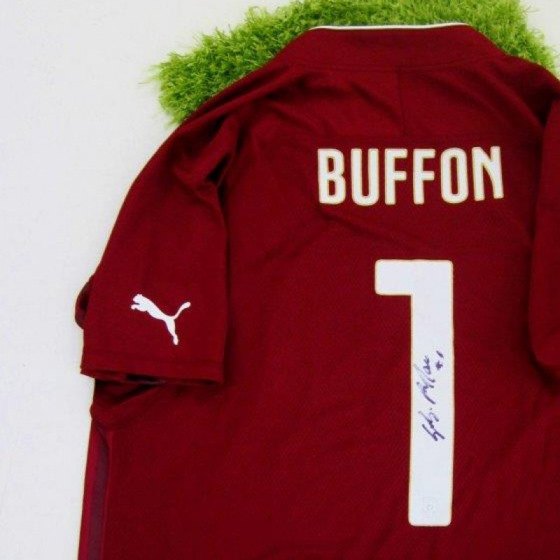 Buffon Italy official authentic shirt signed, Brazil 2014 - #celebriamolamaglia #vivoazzurro