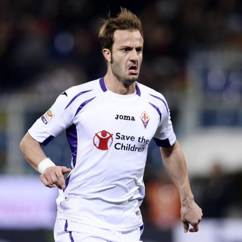 Gilardino's Worn Shirt, Napoli-Fiorentina 2015