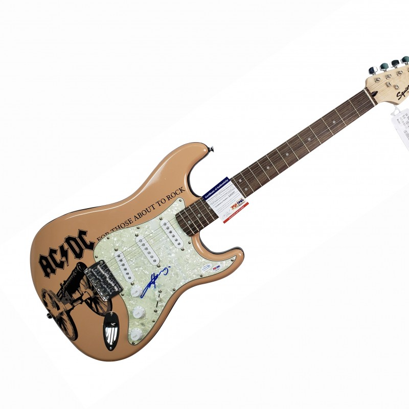 "Angus Young ""AC/DC"" Hand Signed Custom Graphics Guitar"