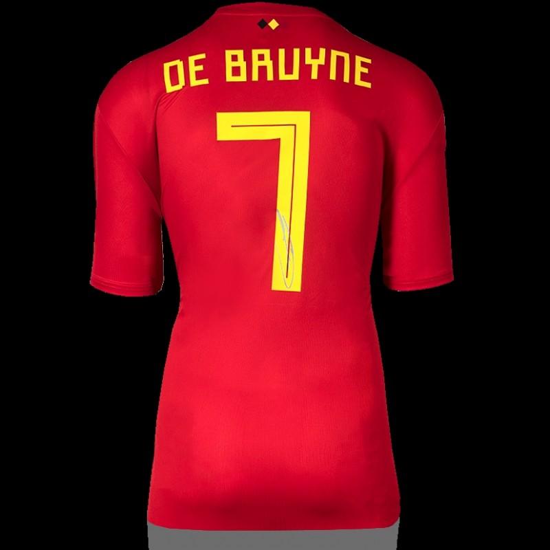 Kevin De Bruyne Back Signed Belgium 2018 Home Shirt