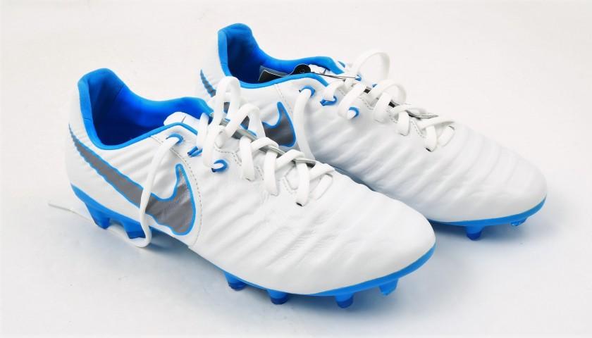 4ec7c3129b9 Sergio Ramos  Nike Tiempo Signed Boots - CharityStars
