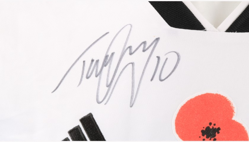 Cairney's Fulham Match-worn and Signed Poppy Shirt