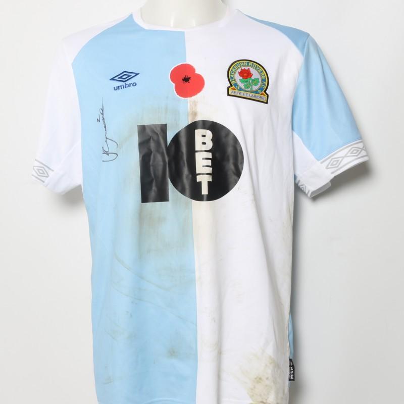 Ryan Nyambe's Match-Worn Blackburn Rovers Signed Poppy Home Shirt