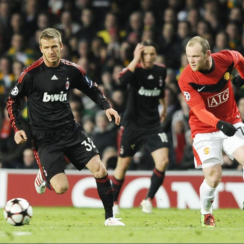 Beckham's Milan Shirt, Issued/Worn 2009/10