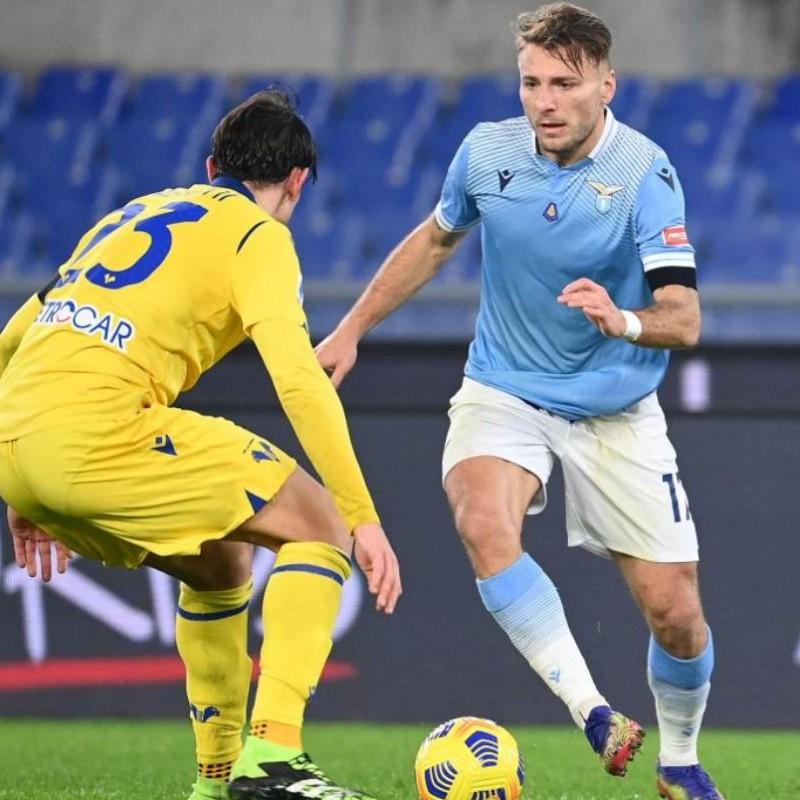 Immobile's Signed Match Shirt, Lazio-Verona 2020