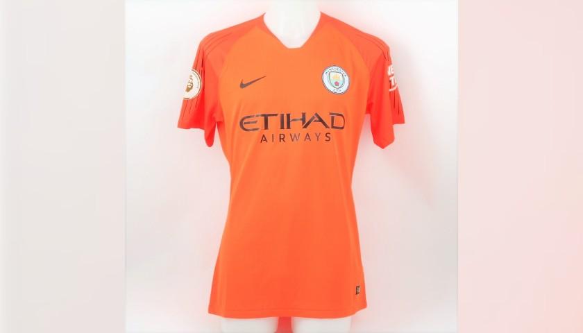 best service 049a2 91ce2 Ederson's Man City Match Shirt, EPL 2018/19 - CharityStars