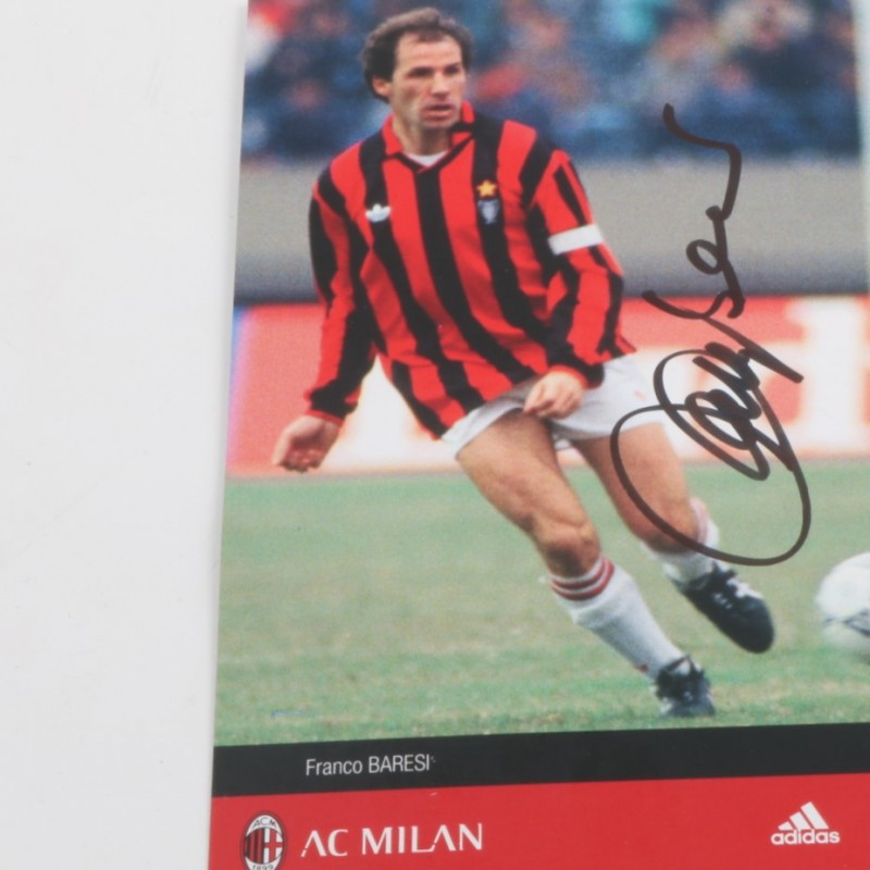 Franco Baresi Milan glories picture - signed
