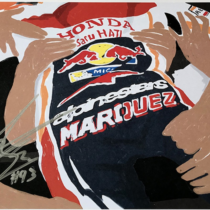 """Marc Marquez: Race 13, Misano"" by Tammy Gorali"