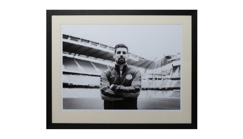 Nolito's First Photoshoot Manchester City FC Framed and Signed Photograph