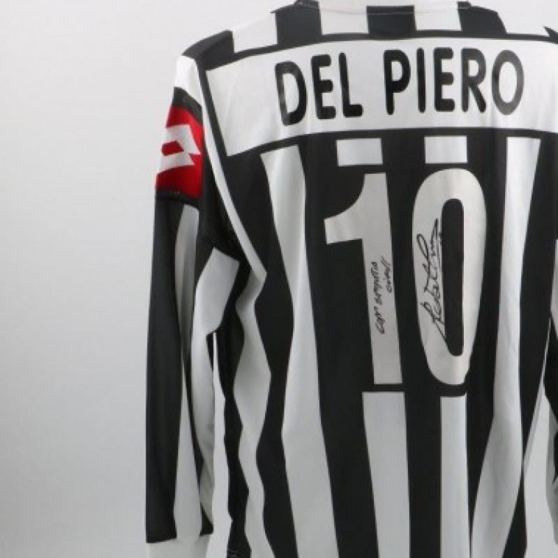 Del Piero Juventus shirt, issued/worn Serie A 2001/2002 - signed