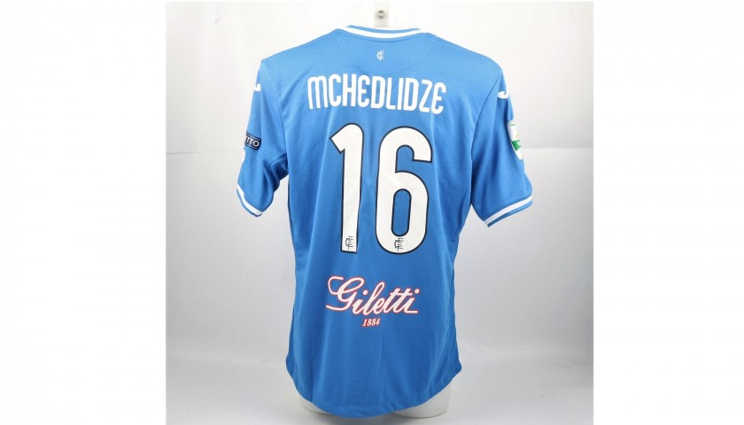 Mchedlidze's Match-Issued Shirt from Empoli-Ascoli with a Special #AiutiamoLI Patch