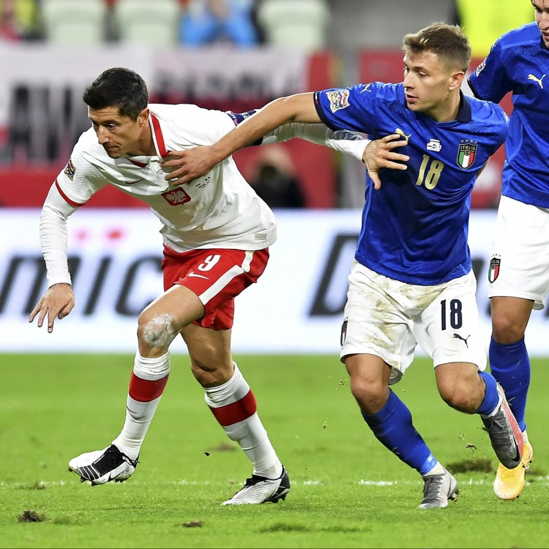 Barella's Match Shirt, Poland-Italy 2020