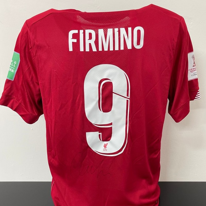 Firmino's Official Liverpool Signed Shirt, FIFA Club World Cup 2019