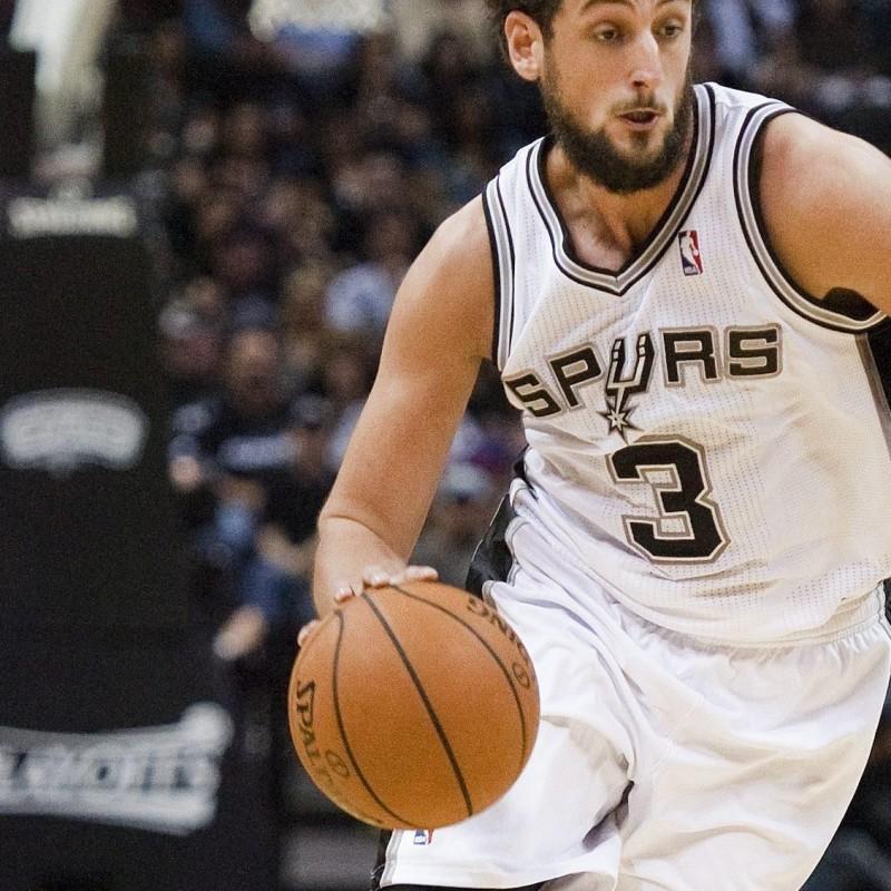 Belinelli signed Spurs shirt, NBA 2014.