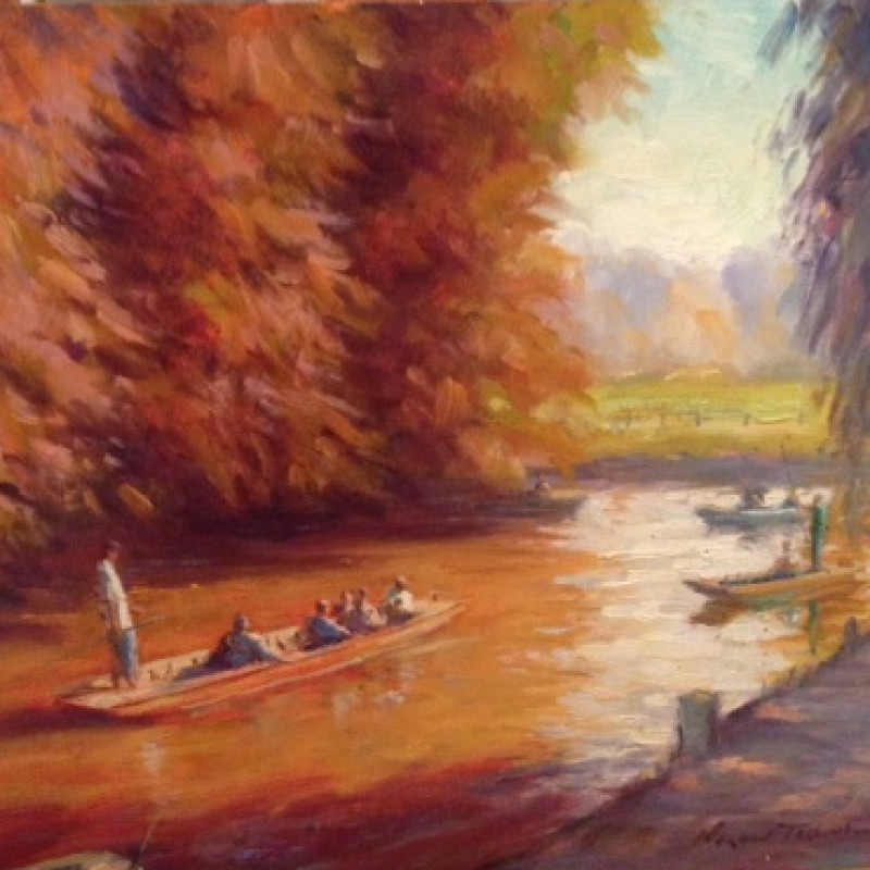 """""""Boating Oxford"""", by Norman Teeling"""