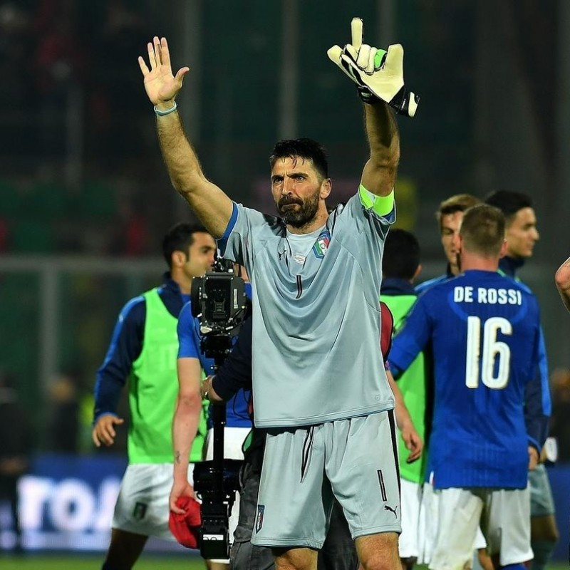 Buffon's Match Shirt, Italy-Albania 2017
