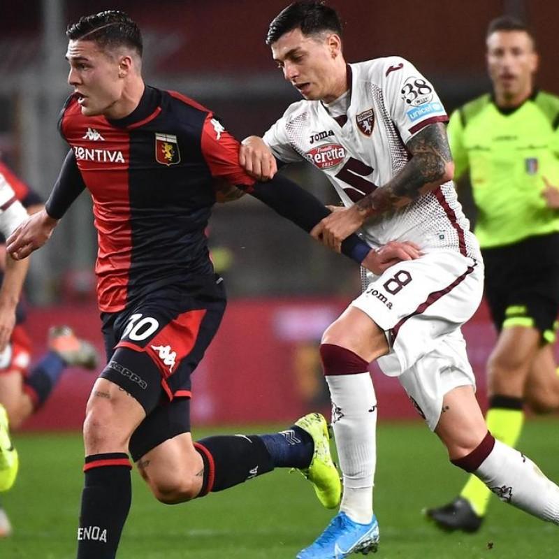 Baselli's Signed Shirt with Unicef Patch, Genoa-Torino