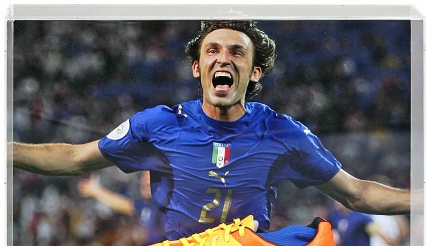 Andrea Pirlo Hand-Signed Italy Football Boot Presentation
