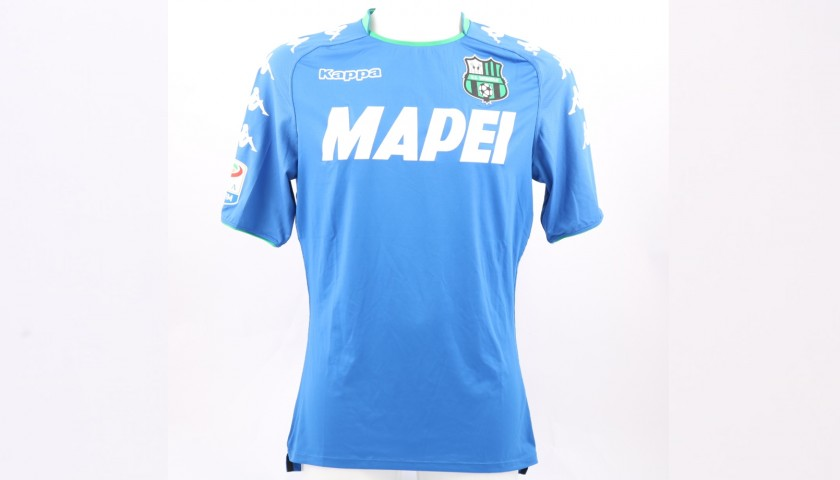 Magnanelli's Sassuolo Match-Issue/Worn and Signed Shirt, 2017/18