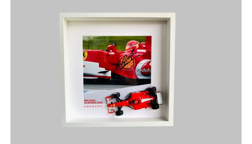 Michael Schumacher Signed Photograph and Model