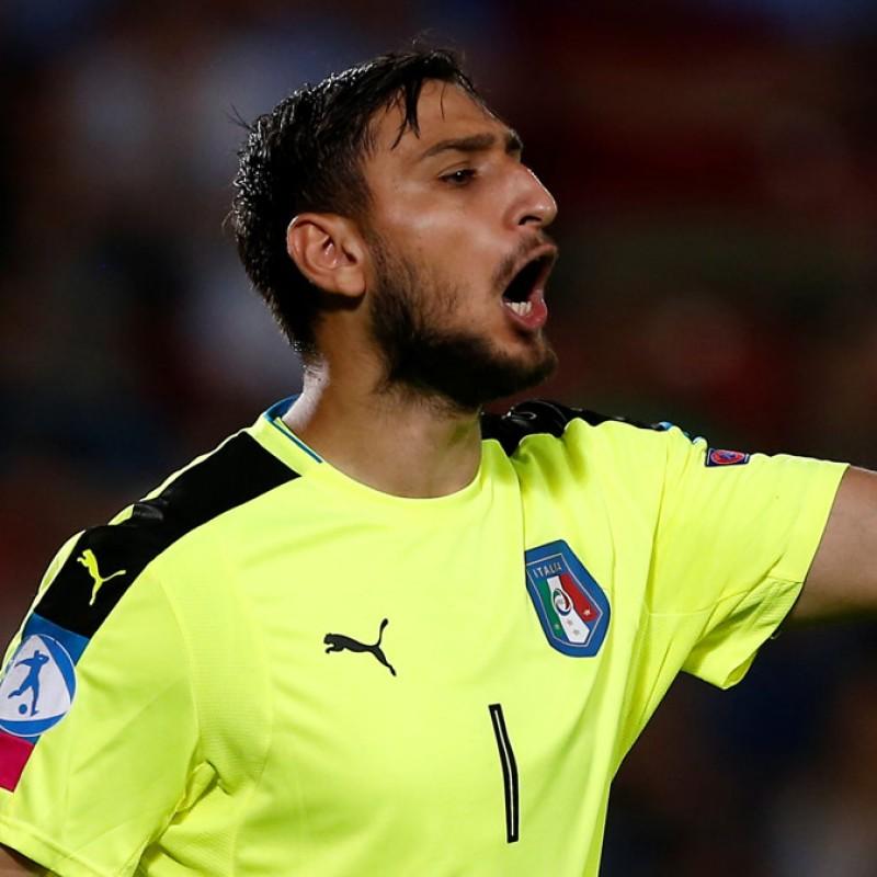 Donnarumma's Match-Issue/Worn Shirt, Italy-Israel 2017