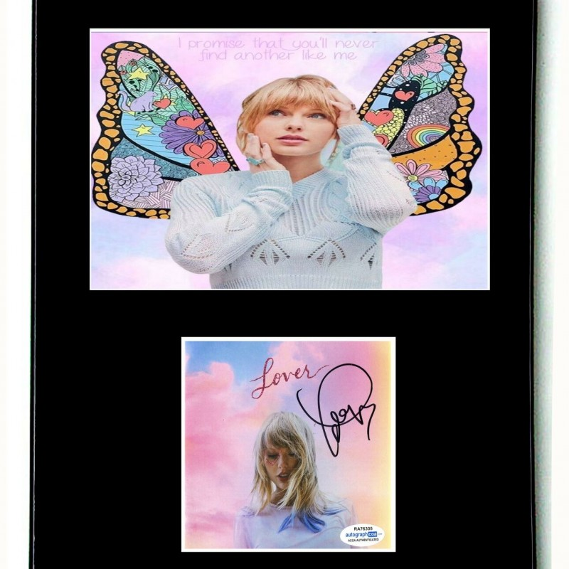 Taylor Swift Hand Signed, Custom Framed Display