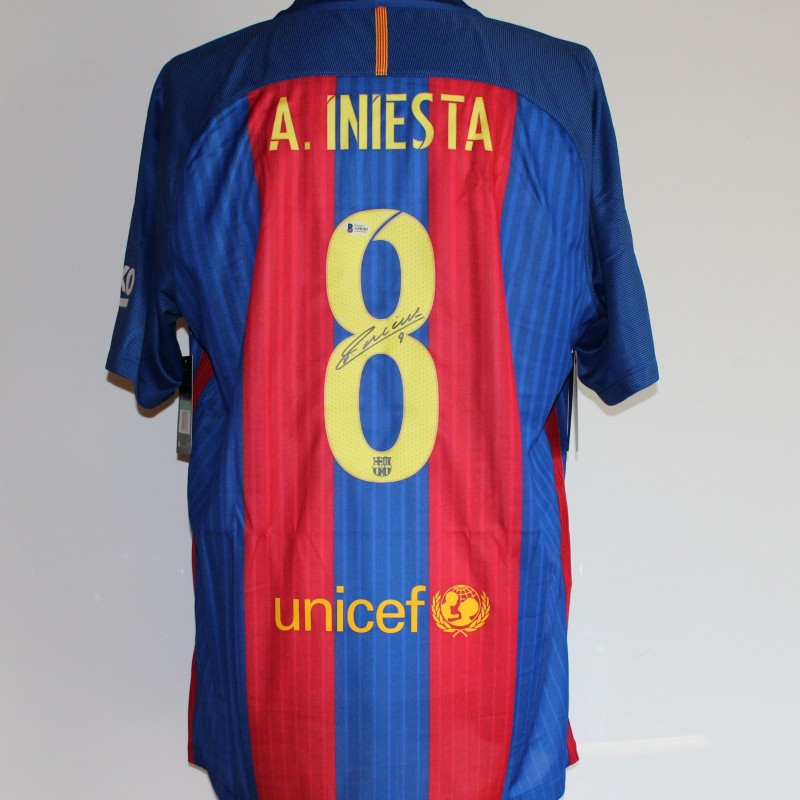 Iniesta FC Barcelona Signed Shirt