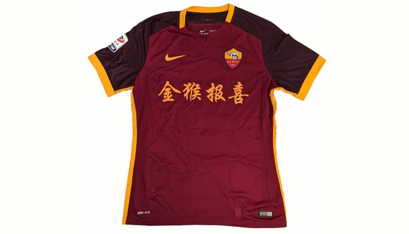 Dzeko's Worn Shirt, Roma-Sampdoria 2016 - Special China
