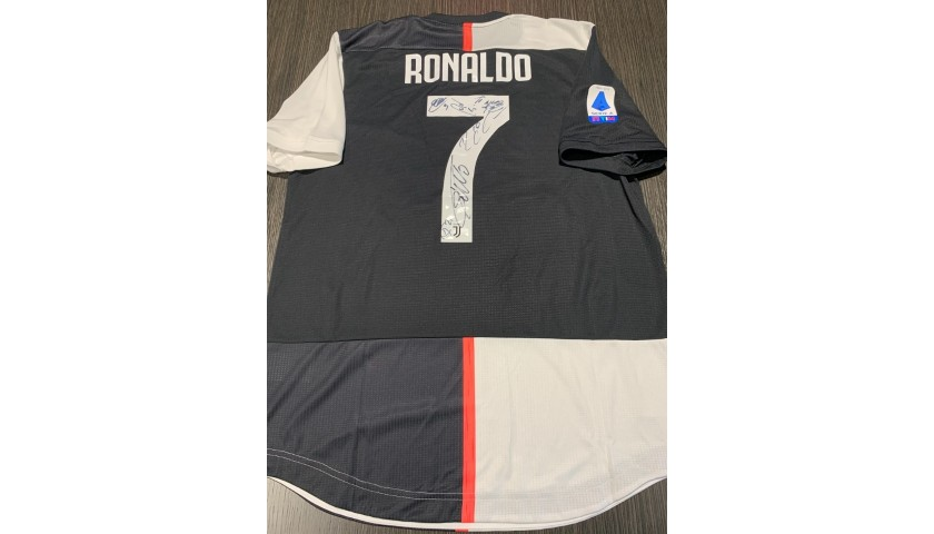 Ronaldo's Juventus Match Shirt 2019/20, Signed by the Players
