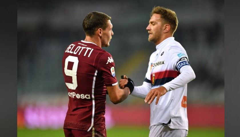 Criscito's Worn Shirt with Special UNICEF Patch, Torino-Genoa