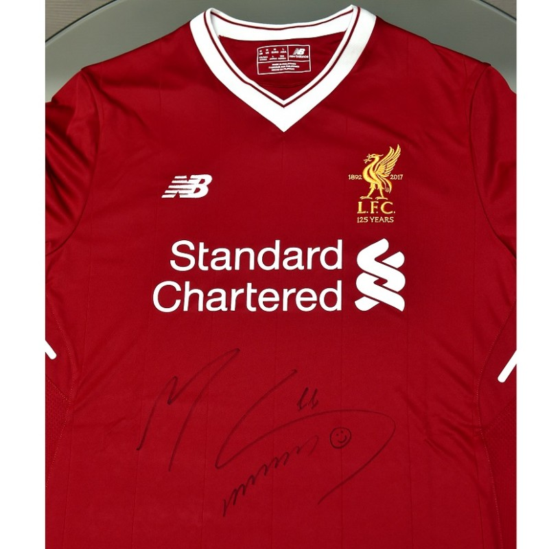 Signed Salah LFC 125 home shirt