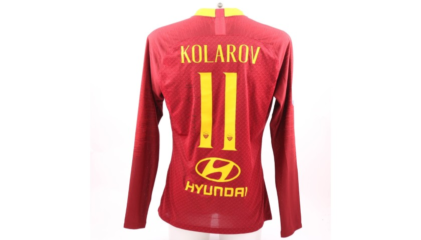 Kolarov's Worn and Signed Shirt, Roma-Genoa 2018