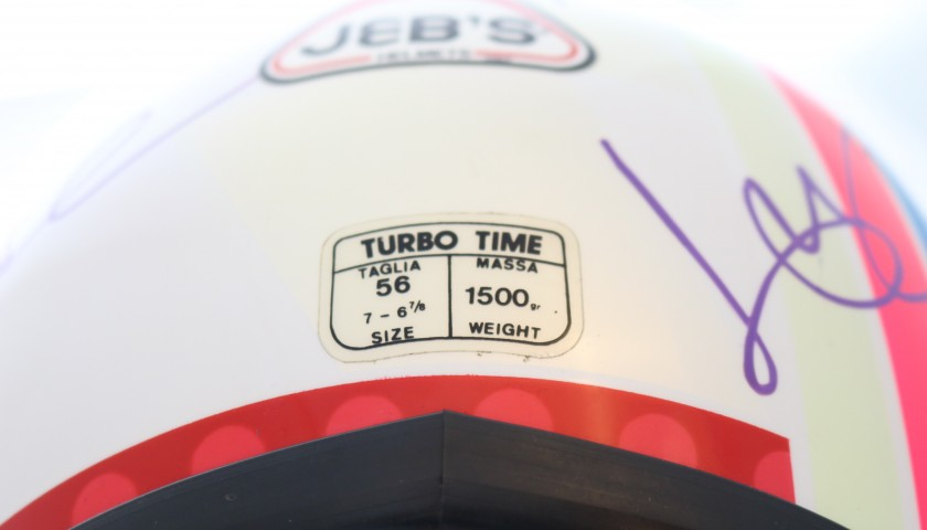 MotoGP Helmet from the 1980s  - Signed by the Riders