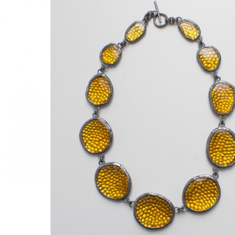 SAETTATO, nacklace in Murano glass by Giorgio Vigna