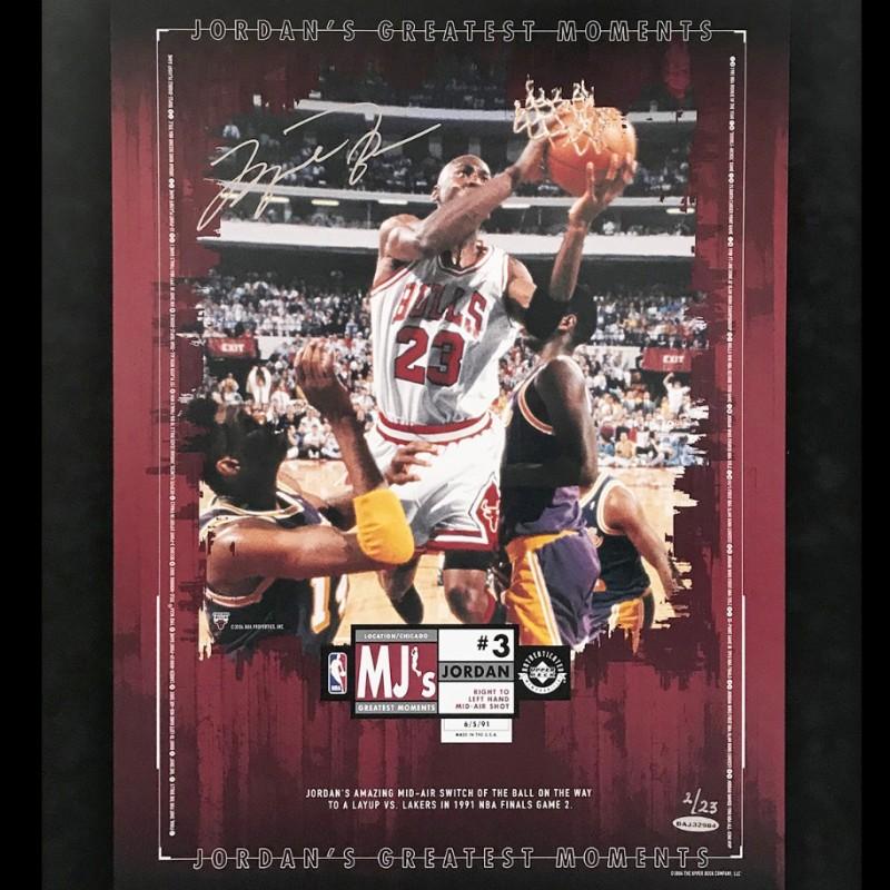 Signed Michael Jordan Display