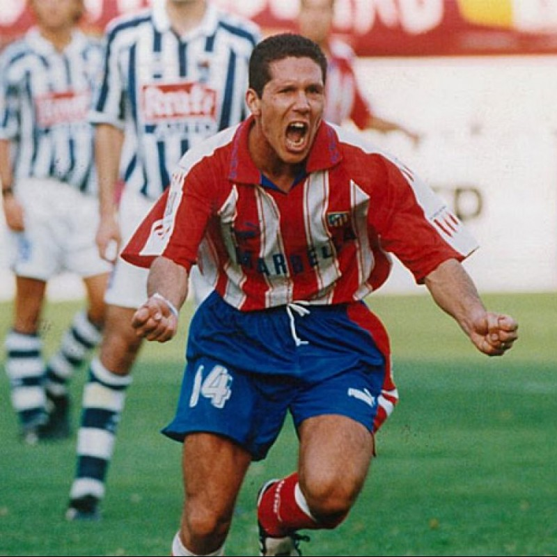 Simeone's Official Atletico Madrid Signed Shirt, 1995/96