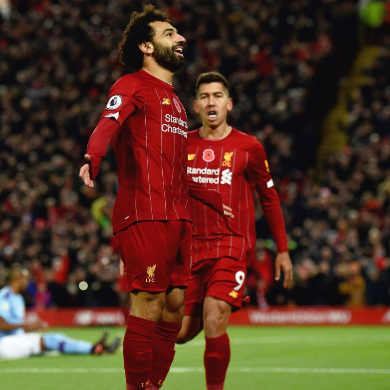 Salah's Poppy Match Shirt, Liverpool-Man City 2019